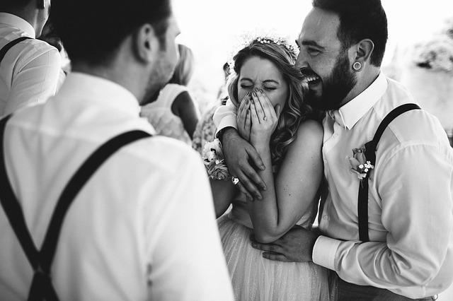 štěstí svatebčanů